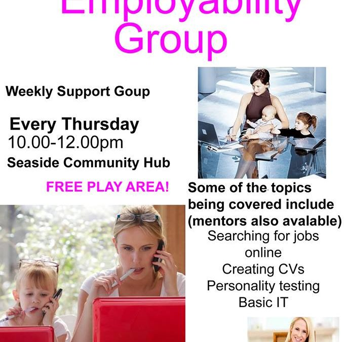 Come and join us every Thursday morning (10am-12pm) for our weekly employability sessions at the Seaside Community Hub